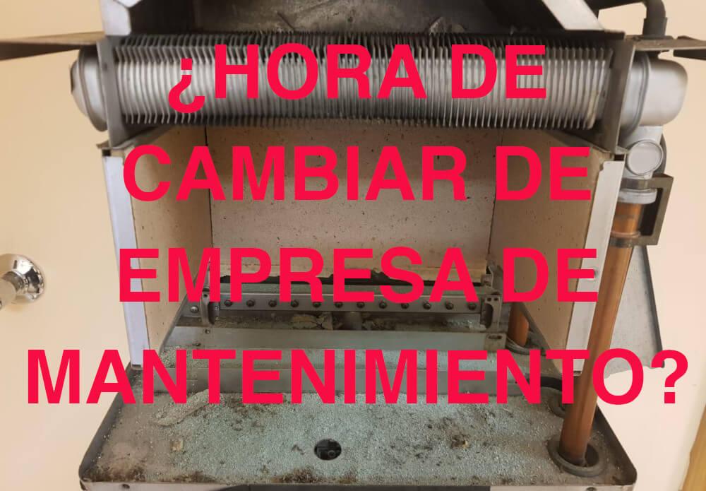 Cambio empresa de mantenimiento